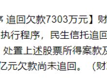 民生信托诉乐视控股案终结执行程序 追回欠款7303万元 仍有4亿尚未追回