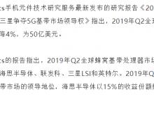 StrategyAnalytics:2019年Q2高通以43%份额领先全球基带市场