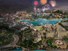 北京环球度假区一期进入游乐设施安装阶段